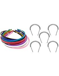 Smartstore Beautiful Multicolor 12Pcs Hair Bands With 5 Zig Zac Hair Band Combo (Multicolor)