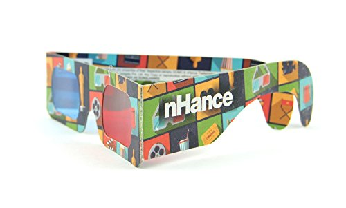 DOMO nHance RB1B Anaglyph Passive Cyan and Magenta Red and Blue Paper 3D Video Glasses (Pack of 4 pcs)  available at amazon for Rs.129