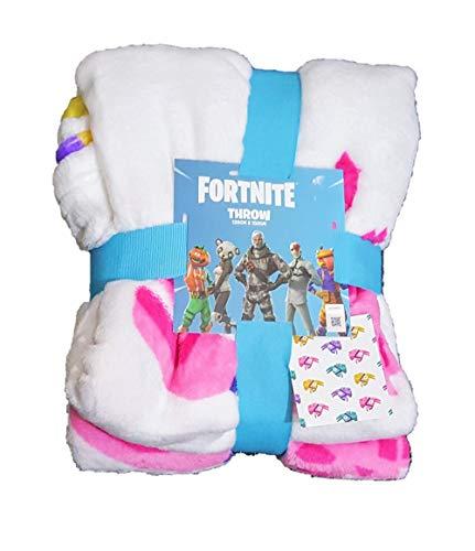 Fortnite Primark Licensed Kids Kids Supersoft Manta de Cama Llama