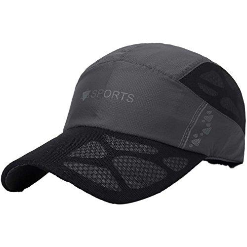 Hankyky Herren Damen Schirmmütze 50 + Sonnenschutz Quick Dry Anti-UV Einstellbare...