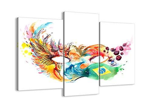 Bild auf Leinwand - Leinwandbilder - DREI Teile - Breite: 130cm, Höhe: 100cm - Bildnummer 3036 - dreiteilig - mehrteilig - zum Aufhängen bereit - Bilder - Kunstdruck - - Rio Karneval Kostüm Bilder