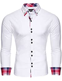 Reslad Herren Hemd Button-Down Slim Fit Bügelleicht RS-7015