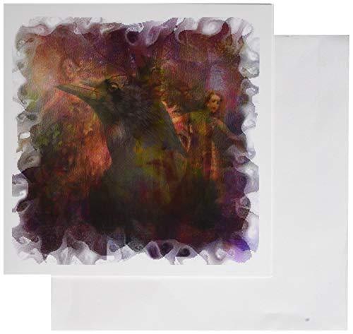 3drose Magic of Dawn Raven Crow Mystery Nebel Elfe Fee Dancing Dawn EOS Morning-Grußkarten, 6by Foto, 6Stück (GC 21753_ 1)
