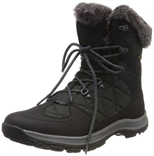 Jack Wolfskin Damen Thunder Bay Texapore Mid W Wasserdicht Trekking-& Wanderstiefel, Schwarz (Phantom/ Grey 6364) 40 EU