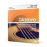 D'Addario Cordes en bronze phosphoreux pour guitare acoustique 12 cordes D'Addario EJ41, Extra Light, 9-45