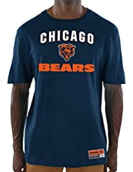 "Chicago Bears Majestic NFL ""Line of Scrimmage 3"" Men's T-shirt Chemise"