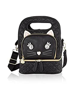Betsey Johnson Kitch Cat Face Oval Top Handle Insulated