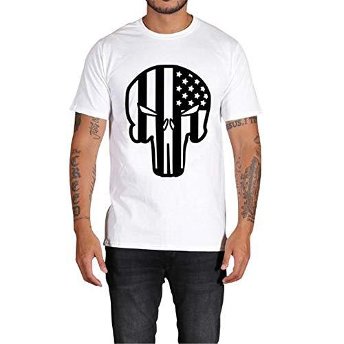Sommer Kurzarm T-Shirts Top T Bluse Beiläufige Dünne Sport T-Shirt Männer Jungen T-Shirt Top,3D Digitaldruck-5 weiß 2XL -