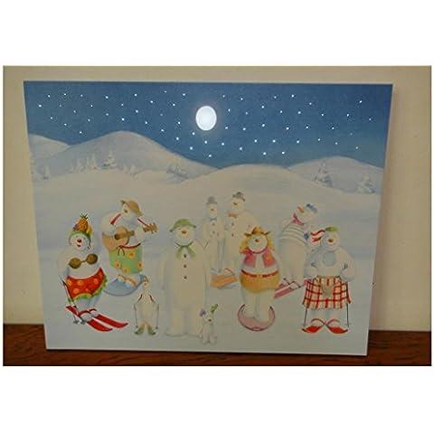 XYXY Giorno di Natale decorazione di paesaggio pittura Home Decor Wall Art con batteria operati Led luci . 40*50