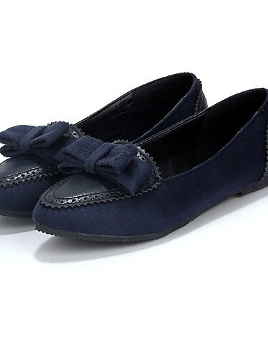 ZQ gyht Scarpe Donna-Ballerine-Casual-Punta arrotondata-Piatto-Finta pelle-Blu / Borgogna / Tessuto almond , blue-us8 / eu39 / uk6 / cn39 , blue-us8 / eu39 / uk6 / cn39 almond-us6 / eu36 / uk4 / cn36