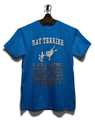 Hund Rat Terrier Herren T-Shirt Royal Blau