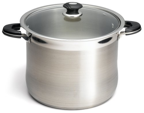 Prime Pacific 18/10 Stainless Steel 20 Quart Stock Pot With Glass Lid 20 Quart Stock Pot