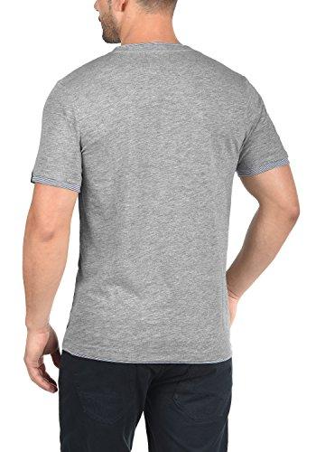 PRODUKT Paolo Herren T-Shirt Kurzarm Shirt Rundhalsausschnitt Aus Hochwertiger Baumwollmischung Light Grey Melange