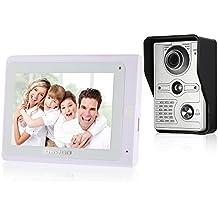 OWSOO Videoportero Timbre Intercomunicador WiFi(1000TVL Cámara de Vigilancia, 7