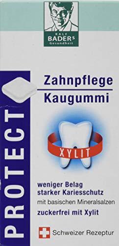 BADERs PROTECT Zahnpflege Kaugummi aus der Apotheke. Zuckerfrei mit 100% Xylit. Öko-Test'GUT'....