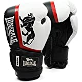 Lonsdale MMA Punch Bag Sparring Pro Training Boxing Gloves Black White With Shock Absorbing Foam Padding High Quality P.U Material Made In Various Sizes