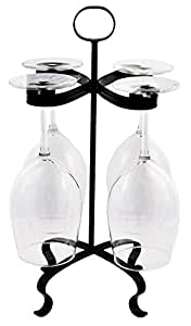 Mango Steam Wine Glass Stemware Holder, Black
