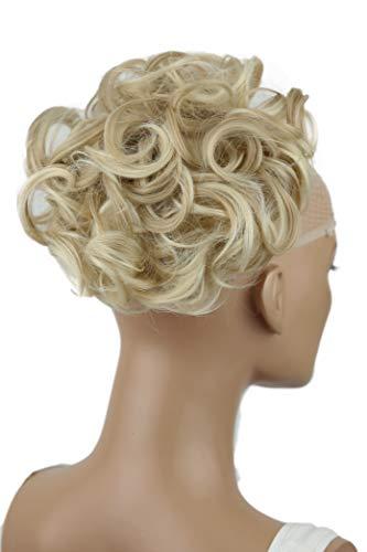 PRETTYSHOP Dutt Haarteil Zopf Haarknoten Hepburn-Dutt Haargummi Hochsteckfrisuren hellblond mix #15H613A HK121
