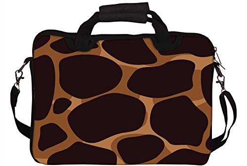 Snoogg Giraffe Haut 43,2 cm 44,2 cm Zoll Laptop Notebook Computer Netbook Weiche Schultertasche mit Riemen Schutzhülle für Apple MacBook Pro 17 Dell Inspiron und die meisten 43,2 cm 44,2 cm Zoll Laptop Chromebook Laptop Notebook Inspiron Laptop Haut