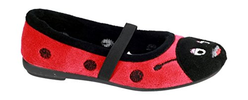 Mirak Mirak Childrens aventure Slipper Black / Red