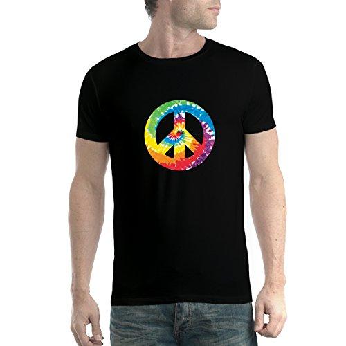 Signe Peace and Love Homme T-Shirt Noir XS