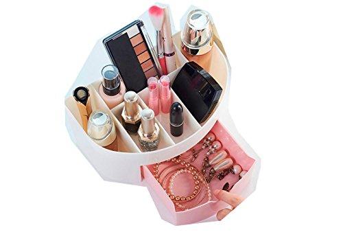 Maquillage Boite Compartiment Cosmétique Rangement (Rose)