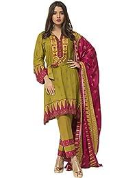 106d835ce9 Surkhab Impressions Women's Pure Lawn Cotton Printed Pakistani Salwar Suit  Dress Material