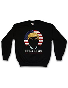Trump Sweatshirt – Donald President USA US Bush Clinton Election Anti Pro Stars Stripes Star Spangled Banner Flag...