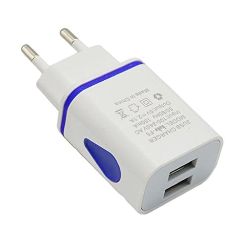 zolimx LED 2 Puerto pared Home Travel cargador AC adaptador USB, enchu