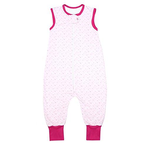 TupTam Unisex Babyschlafsack mit Beinen Unwattiert, Farbe: Sterne Rosa, Größe: 92-98