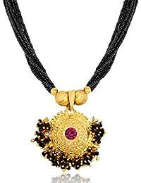 Amaal Traditional Maharashtrian Jewellery Thushi Mangalsutra Necklace Sets Jewellery Set for Girls Women Latest -THUSHI-A7116
