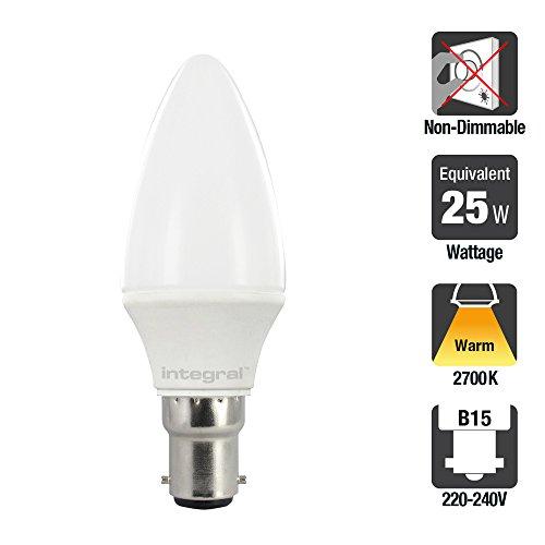 Integral - Bombilla LED de casquillo B15, consumo 3.5 W
