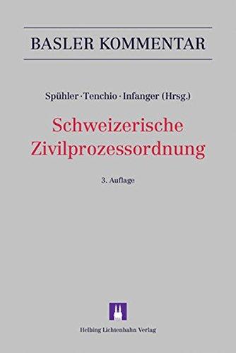 Schweizerische Zivilprozessordnung: ZPO