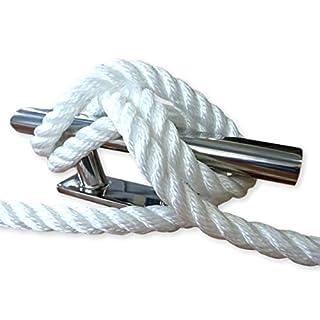 Corde de mouillage 3 torons polyester - Blanc, 14 mm, aucune