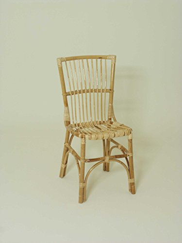 chaise Clotilde, rotin - main rotin .Tessuti, siège tissé et le dossier