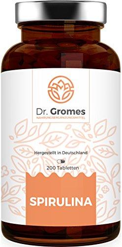 TESTSIEGER: Die Spirulina Alge von Dr. Gromes - Hochdosiert - 200 Tabletten