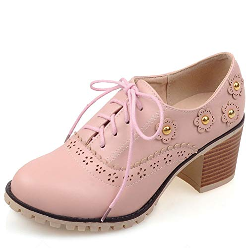 Plattform Sattel Schuhe - Vimisaoi Damen Vintage Oxfords Brogues Wingtip