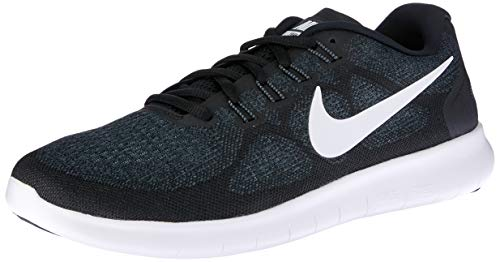 save off 7cec3 42ff7 Nike Women s Free Rn 2017 Running Shoes , Black White-Dark Grey-Anthracite