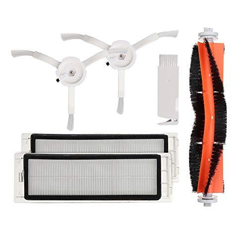 ChaRLes 6pcs Main Brush HEPA Filter Side Pushes Ersatz für XIAOMI Mi Robot Vakuum Cleaner -