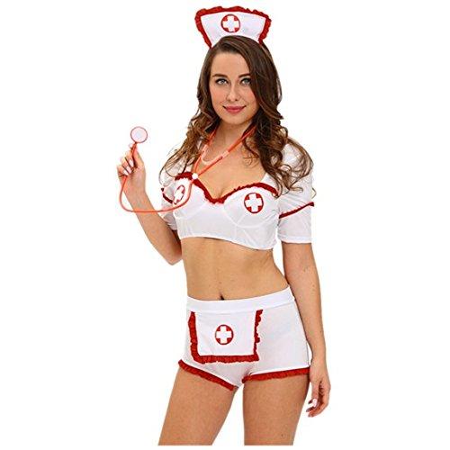 Injektion Flirt Krankenschwester Uniform Halloween Kostüm Cosplay Kostüm (L) (Heißes Halloween-kostüm Ideen)