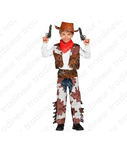 Guirca Cowboy Kostüm für Kinder Mädchen Jungen Western Kinderkostüm Gr. 98-146, - Cowboy Kostüm Für Jungen