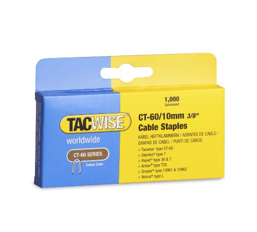 Tacwise CT-60 - Juego grapas CT-60/10mm, 1 paquete con 1000 unidades