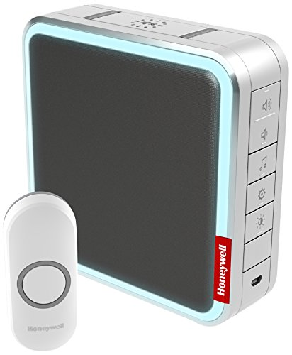 honeywell-dc917ng-9-series-wireless-200-meter-mp3-doorbell-with-halo-light-grey