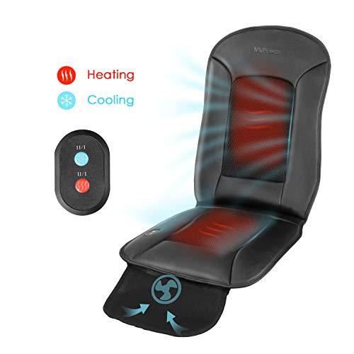 MVPower Auto Sitzkissen Beheizbar Sitzauflage mit Heizung- und Kühlungfunktion Sitzheizung Auto Auflage 2 Stufe für Auto Zuhause Büro Stuhl