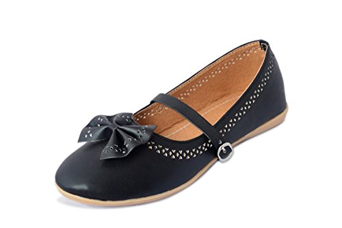 Myra Women's Ethnic Bow Black Bellies - 8 (MS674C2S8)