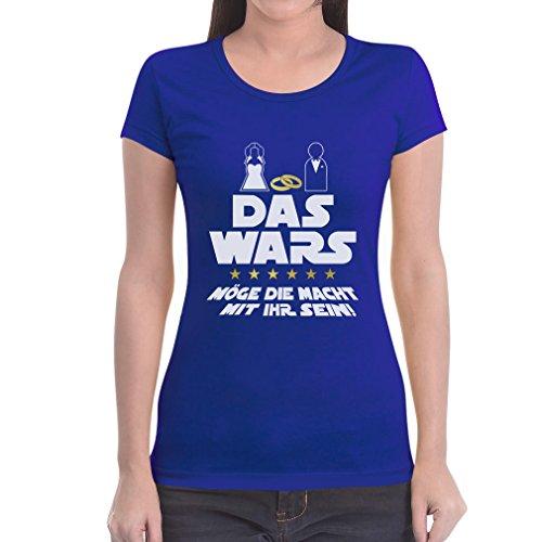 JGA Junggesellinnenabschied Party Das Wars mit Ihr Frauen T-Shirt Slim Fit XX-Large Blau
