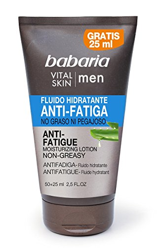 Babaria – Vital Skin Men Fluide Hydratant Anti fatiga pas graisse 50 + 25 ml Homme