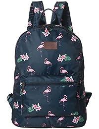 603161736f9a0 Boomly Damen Mädchen Flamingos Rucksack Schüler Schulrucksack Mode tragbar  Schultertasche Outdoor Reise Handtasche