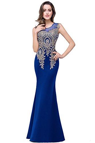 Misshow Damen Kleid Große Größen Glitzer Perlstickerei Abiballkleid Abendkleid