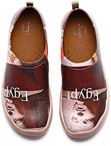 UIN Egipto Zapato de Cuero Viaje Marrón para los Hombres (44)